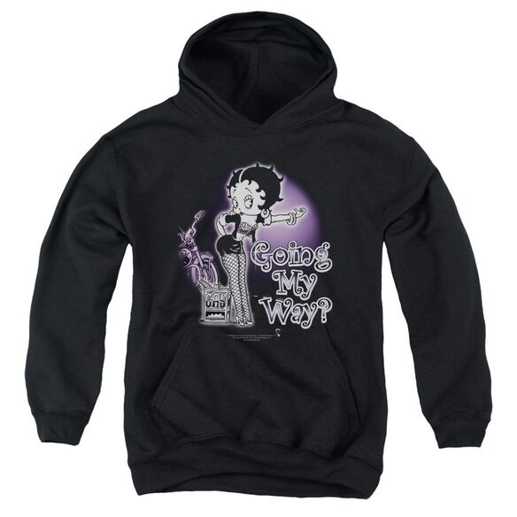Betty Boop My Way Youth Pull Over Hoodie