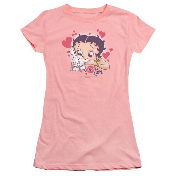 Betty Boop Puppy Love Premium Bella Junior Sheer Jersey