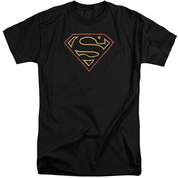 Superman Colored Shield Short Sleeve Adult Tall T-Shirt
