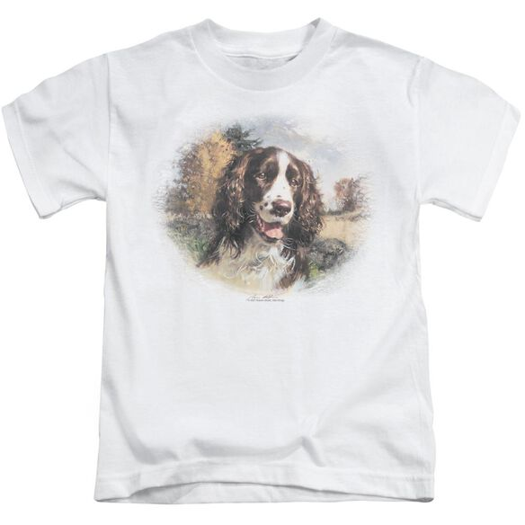 Wildlife Springer Spaniel Head Short Sleeve Juvenile T-Shirt