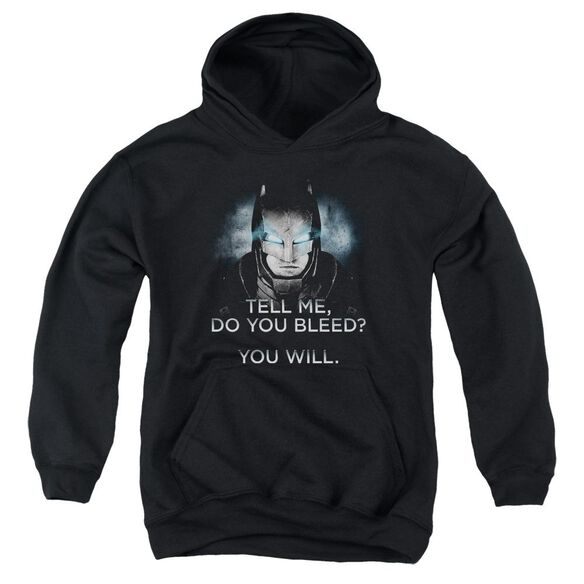Batman V Superman Do You Bleed Youth Pull Over Hoodie