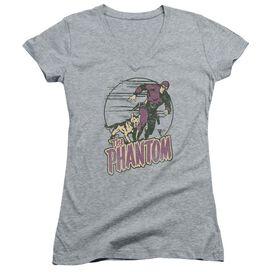 Phantom Phantom And Dog Junior V Neck Athletic T-Shirt