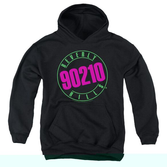 90210 Neon-youth Pull-over Hoodie - Black