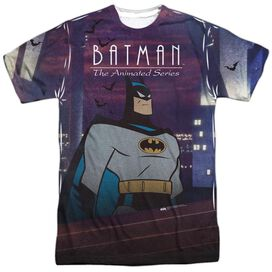 Batman The Animated Series Roof Top Short Sleeve Adult Poly Crew T-Shirt