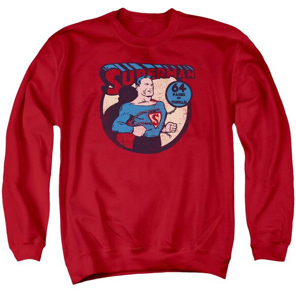 Dc Superman 64 Adult Crewneck Sweatshirt