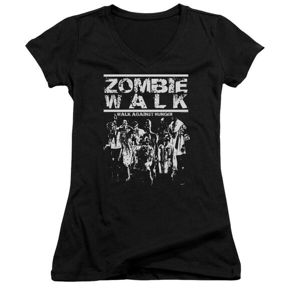 Zombie Walk Junior V Neck T-Shirt