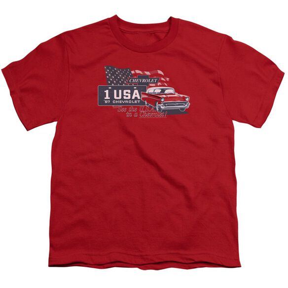 Chevrolet See The Usa Short Sleeve Youth T-Shirt