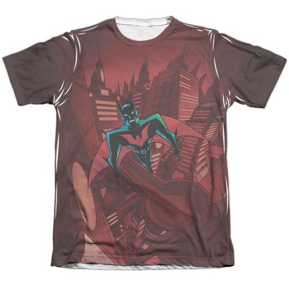 Batman Beyond Red Gotham Adult Poly Cotton Short Sleeve Tee T-Shirt