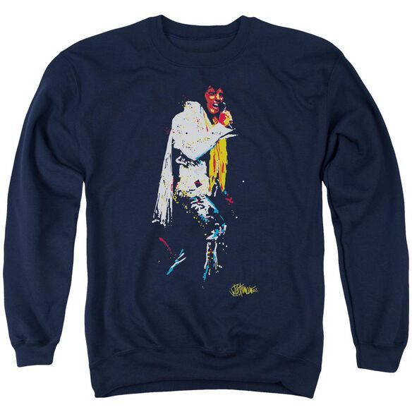 Elvis Yellow Scarf Adult Crewneck Sweatshirt