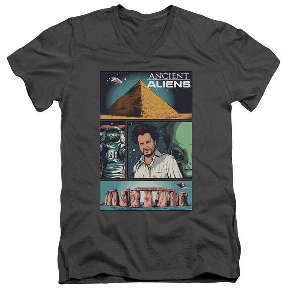 Ancient Aliens Aliens Comic Page Short Sleeve Adult V Neck T-Shirt