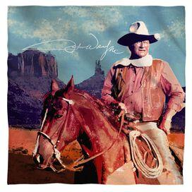 John Wayne Monument Man Bandana White