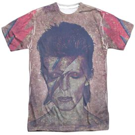 David Bowie Glam Short Sleeve Adult Poly Crew T-Shirt