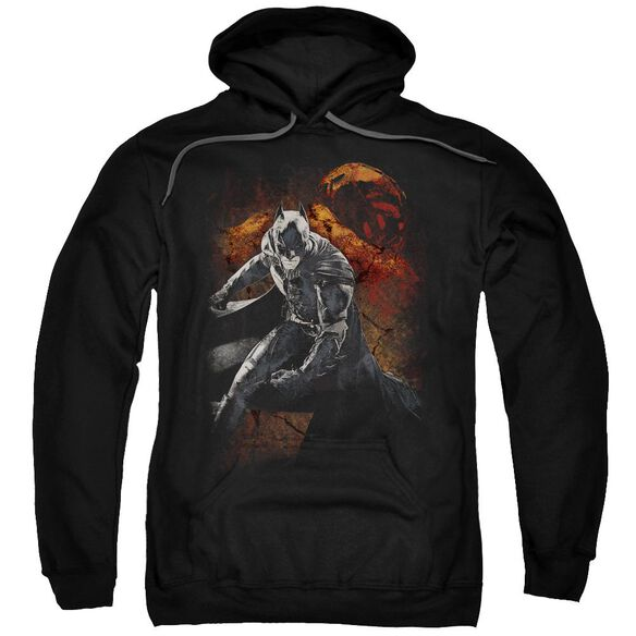Dark Knight Rises Grungy Knight Adult Pull Over Hoodie