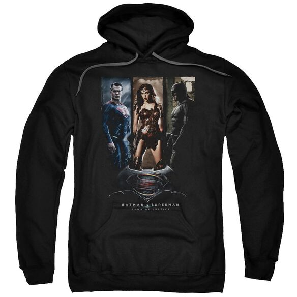 Batman V Superman 3 Phases Adult Pull Over Hoodie