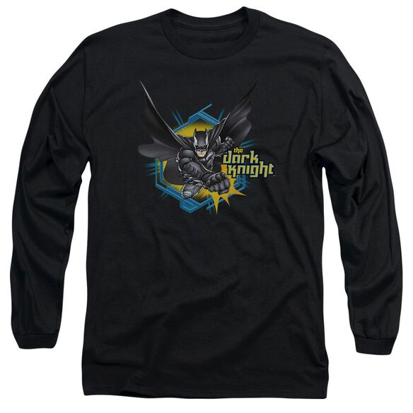 Dark Knight Hexagon Punch Long Sleeve Adult T-Shirt