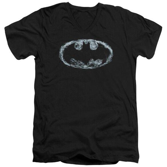 Batman Smoke Signal Short Sleeve Adult V Neck T-Shirt