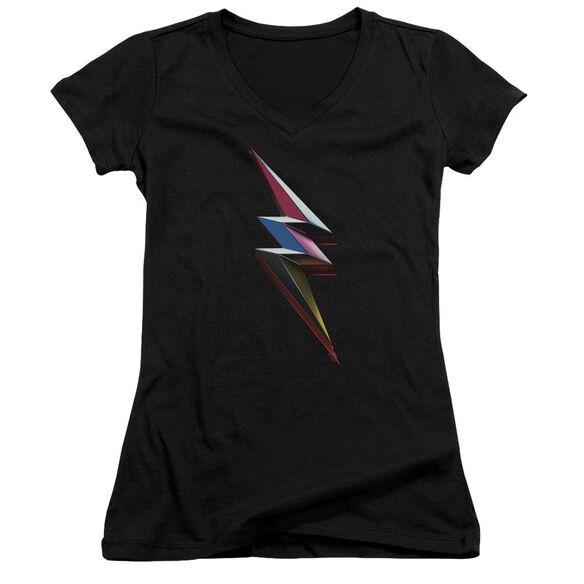 Power Rangers Movie Bolt Junior V Neck T-Shirt