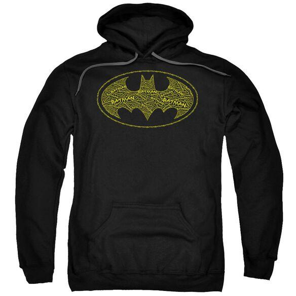 Batman Type Logo Adult Pull Over Hoodie