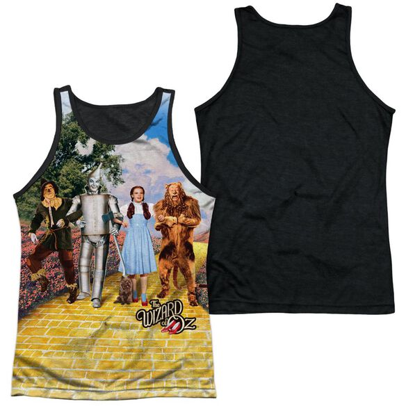 Woz On The Road Adult Poly Tank Top Black Back