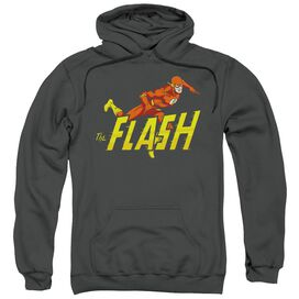 Dc 8 Bit Flash Adult Pull Over Hoodie Black