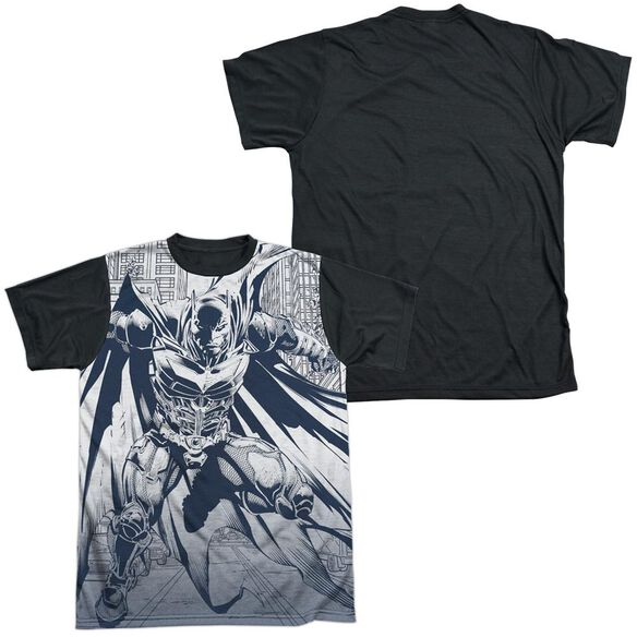 Dark Knight Rises Concept Justice Short Sleeve Adult Front Black Back T-Shirt
