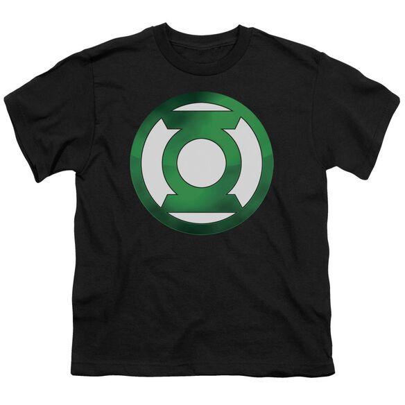 Green Lantern Green Chrome Logo Short Sleeve Youth T-Shirt