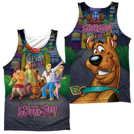 Scooby Doo Amusement Park (Front Back Print) Adult Poly Tank Top