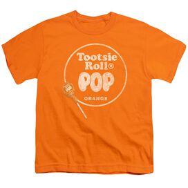 Tootsie Roll Pop Logo Short Sleeve Youth T-Shirt