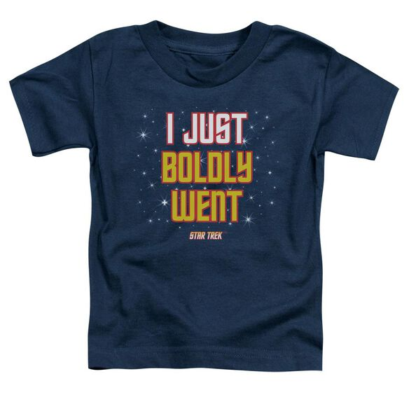 Star Trek Boldly Went Short Sleeve Toddler Tee Navy Md T-Shirt