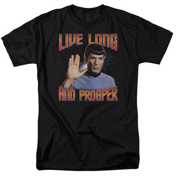 ST ORIGINAL LIVE LONG AND PROSPER - S/S ADULT 18/1 - BLACK T-Shirt