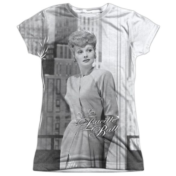 Lucille Ball City Girl Short Sleeve Junior Poly Crew T-Shirt