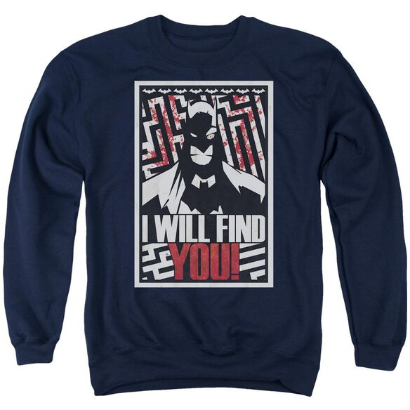 Batman I Will Fnd You Adult Crewneck Sweatshirt