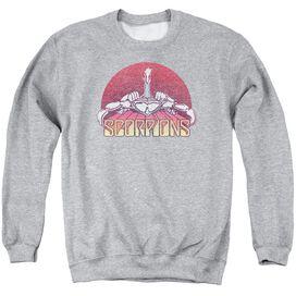 Scorpions Scorpions Color Logo Distressed Adult Crewneck Sweatshirt Athletic