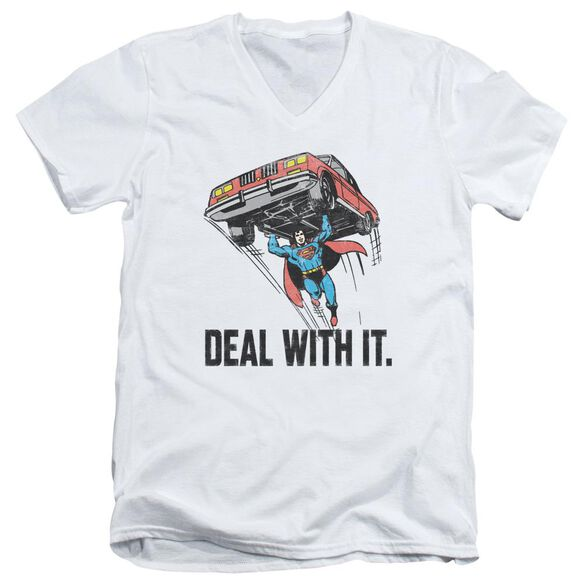 Dco Deal With It Short Sleeve Adult V Neck T-Shirt