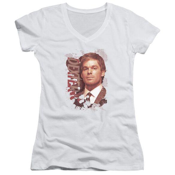 Dexter Splatter Junior V Neck T-Shirt