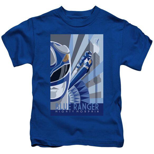 Power Rangers Ranger Deco Short Sleeve Juvenile Royal T-Shirt
