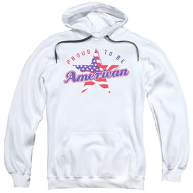 Proud To Be An American Adult Pull Over Hoodie