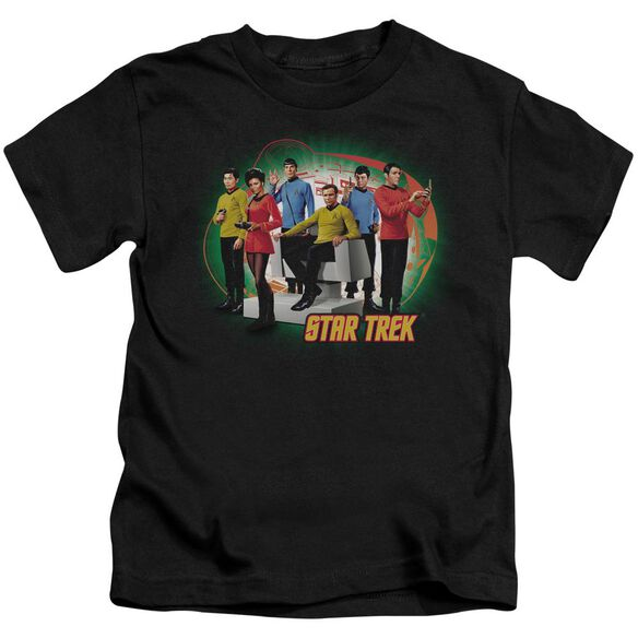 Star Trek Enterprises Finest Short Sleeve Juvenile Black T-Shirt
