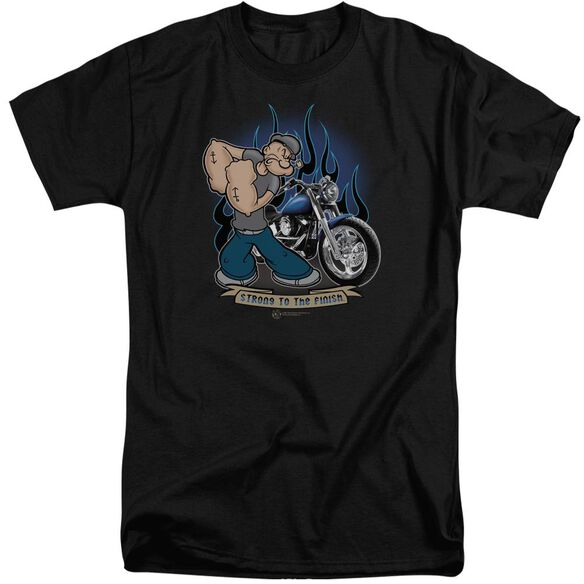 Popeye Biker Popeye Short Sleeve Adult Tall T-Shirt