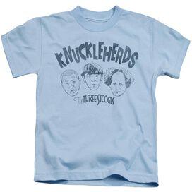 Three Stooges Knuckleheads Short Sleeve Juvenile Light Blue T-Shirt