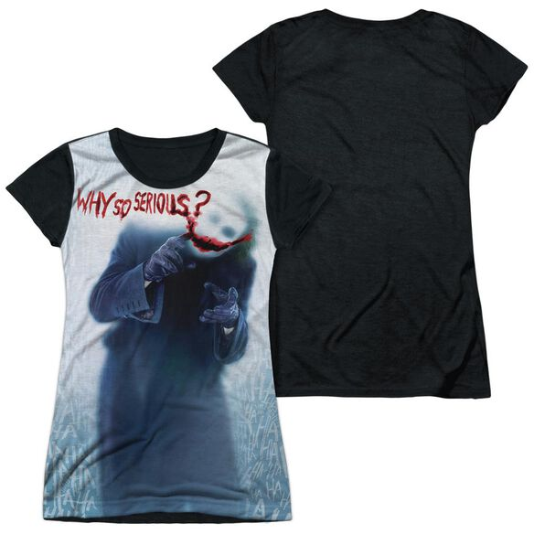 Dark Knight Why Short Sleeve Junior Poly Black Back T-Shirt