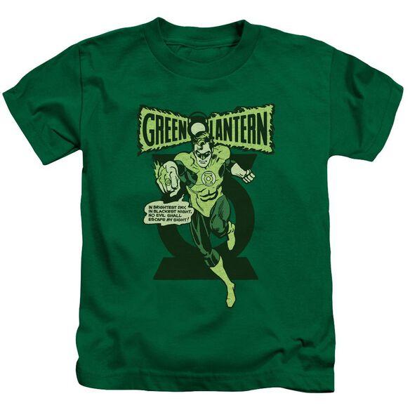 Green Lantern Retro Oath Short Sleeve Juvenile Kelly Green T-Shirt