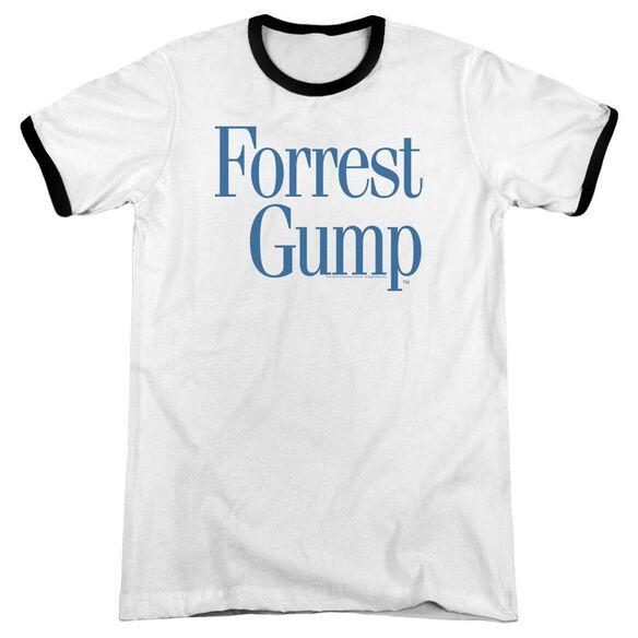 Forrest Gump Logo Adult Ringer White Black