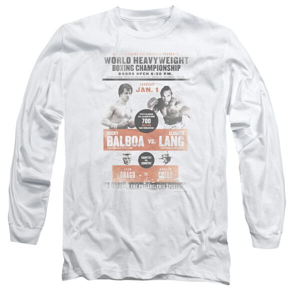 Rocky Iii Vs Clubber Poster Long Sleeve Adult T-Shirt