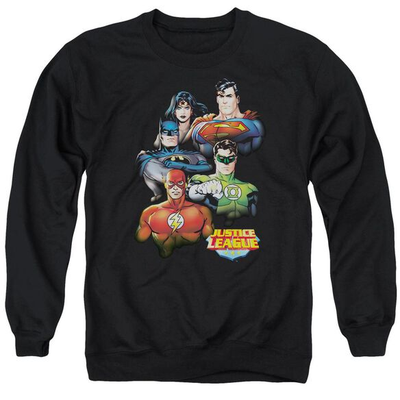 Jla Group Portrait Adult Crewneck Sweatshirt