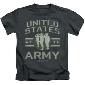 Army United States Army Short Sleeve Juvenile Charcoal T-Shirt