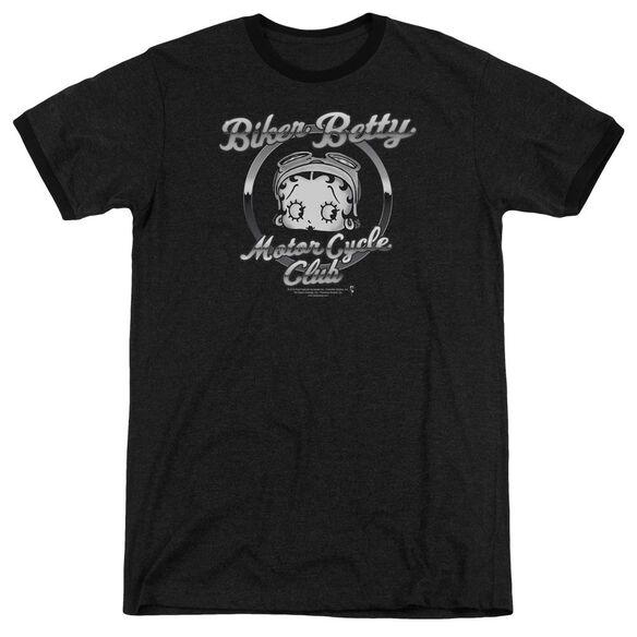Betty Boop Chromed Logo Adult Heather Ringer