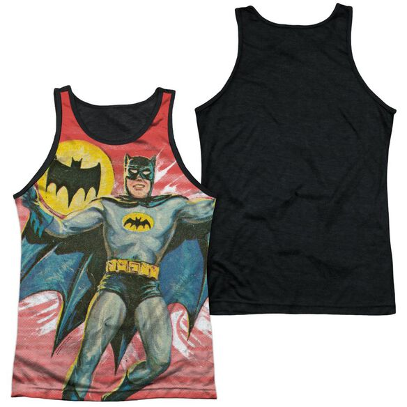 Batman Classic Tv Wrong Question Adult Poly Tank Top Black Back