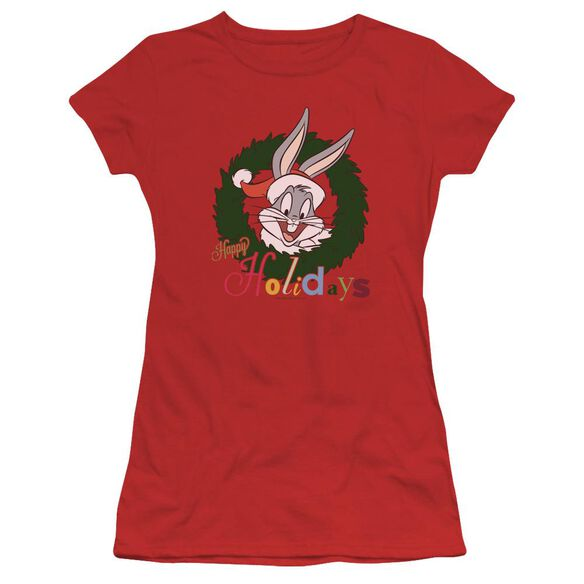 Looney Tunes Holiday Bunny Short Sleeve Junior Sheer T-Shirt