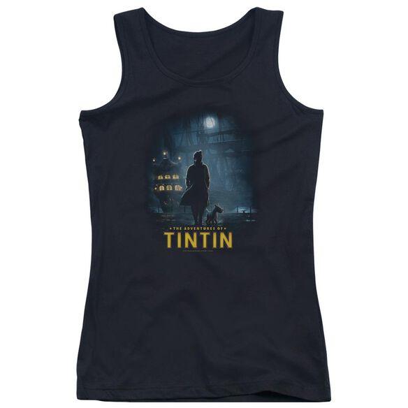 Tintin Title Poster Juniors Tank Top